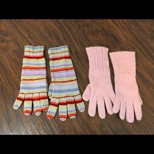 2 sets of cashmere gloves